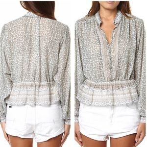 NEW Free People If I Had You Beaded Peasant Blouse